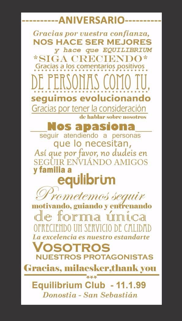 17 aniversario Equilibrium Club